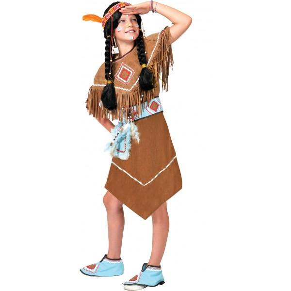 Anila Indiaantje - Indianen Verkleedkleding - Kostuum Kind