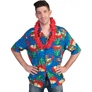 Hawaii Shirt - Verkleedkleding Hippie - Kostuum Man