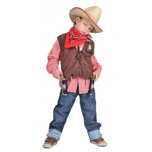 Geblokt shirt Rood/wit - Verkleedkleding Kostuum Kind