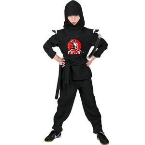 Zwarte Ninja - Verkleedkleding Japan - Kostuum Kind