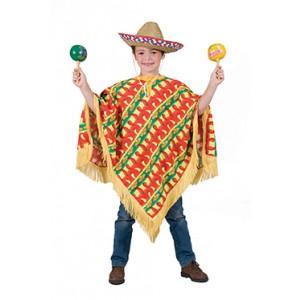 Amigo Poncho - Verkleedkleding Zuid-Amerika - Kostuum Kind