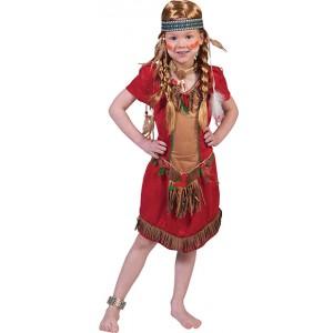 Rode Valk Meisje - Indianen Verkleedkleding- Kostuum Kind