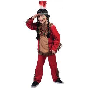 Rode Valk Jongen - Indianen Verkleedkleding - Kostuum Kind