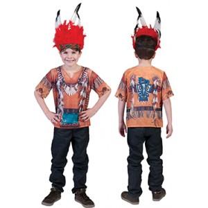 3D T-Shirt - Verkleedkleding Indianen - Kostuum Kinderen