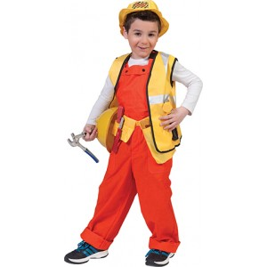 Oranje Overall - Bouwvakker Verkleedkleding - Kostuum Kind