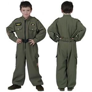 Luchtmacht Piloot - Verkleedkleding Leger - Kostuum Jongen
