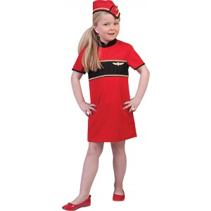 Kleine Stewardess - Verkleedkleding Vliegtuig- Kostuum Kind