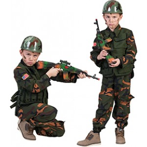 Special Forces Soldaat - Verkleedkleding Leger -Kostuum Kind