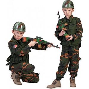 Special Forces Soldaat - Verkleedkleding Leger -Kostuum Kind
