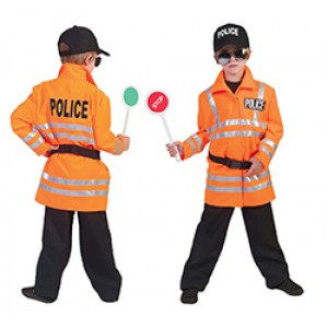 Oranje Motoragent - Politie Verkleedkleding - Kostuum Jongen
