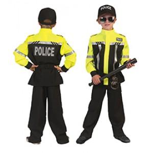 Gele Motoragent - Politie Verkleedkleding - Kostuum Jongen
