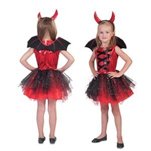 Duivels Meisje - Verkleedkleding Halloween - Kostuum Meisje