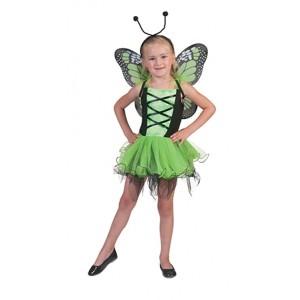 Groene Vlinder - Sprookjes Verkleedkleding - Kostuum Kind