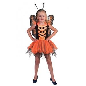 Oranje Vlinder - Sprookjes Verkleedkleding - Kostuum Kind