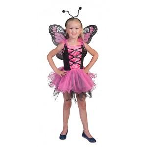 Roze Vlinder - Sprookjes Verkleedkleding - Kostuum Kind