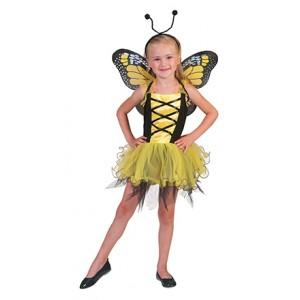 Gele Vlinder - Sprookjes Verkleedkleding - Kostuum Kind