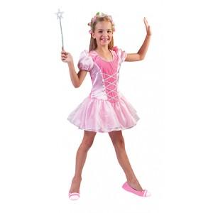 Pinky Prinses - Sprookjes Verkleedkleding - Kostuum Kind