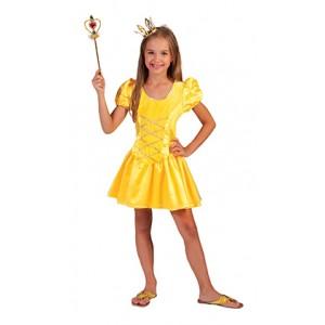 Gele Prinses - Sprookjes Verkleedkleding - Kostuum Kind