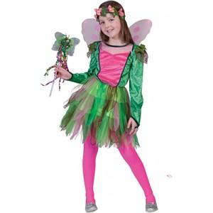 Elf Rosy - Fantasie Verkleedkleding - Kostuum Kind