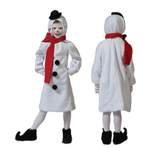 Kleine Sneeuwman - Kers Verkleedkleding - Kostuum Kind