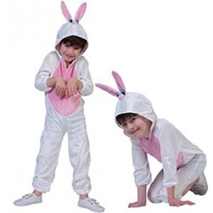 Wit Konijn - Carnaval Verkleedkleding - Kostuum Kind