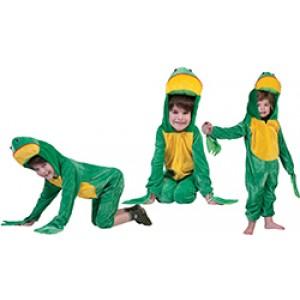 Gele Kikker - Carnaval Verkleedkleding - Kostuum Kind