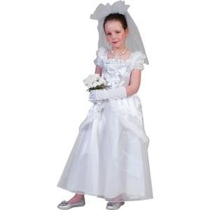 Kleine Bruid - Prinsessen Verkleedkleding - Kostuum Kind