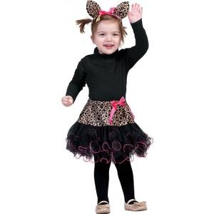 Bruine Panther - Carnaval Verkleedkleding - Kostuum Baby