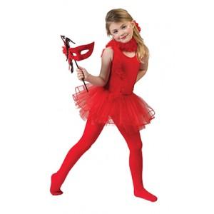 Rode Ballerina - Carnaval Verkleedkleding - Kostuum Kind