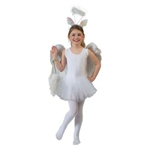 Witte Ballerina - Carnaval Verkleedkleding - Kostuum Kind