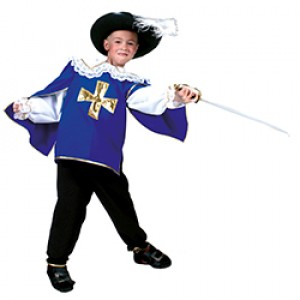 Blauwe Musketier Renaissance Verkleedkleding - Kostuum Kind