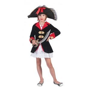 Kapitein Roberta - Piraten Verkleedkleding - Kostuum Kind