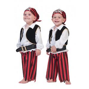 Kleine Kapitein - Piraten Verkleedkleding - Kostuum Baby