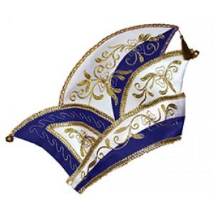 Prins Carnaval Hoed Blauw - Luxe Verkleedkleding - Man