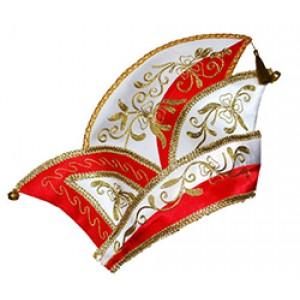 Prins Carnaval Hoed Rood - Luxe Verkleedkleding - Man