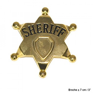 Goud Sheriff Ster - Carnaval Verkleedkleding
