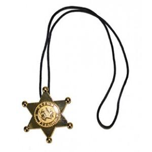 Goud Sheriff Ster Ketting - Carnaval Verkleedkleding