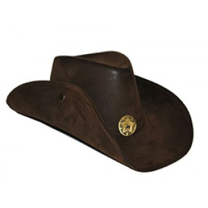 Donkerbruine Cowboy Hoed - Carnaval Verkleedkleding