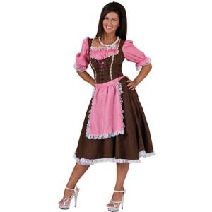 Klassieke Tiroler Rosa - Okotberfest - Kostuum vrouw