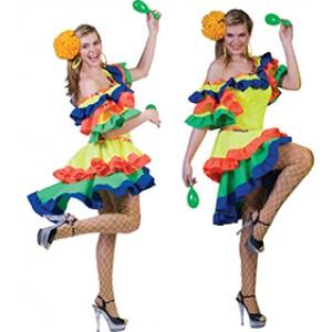 Samba Jurk -  Verkleedkleding Zuid Amerika - kostuum Vrouw