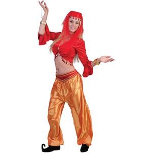 Jasmijn Topje Rood  - Arabische verkleedkleding - Kostuum