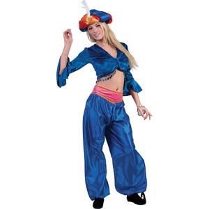 Jasmijn Topje Blauw  - Arabische verkleedkleding - Kostuum