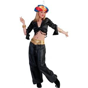 Jasmijn Topje Zwart  - Arabische verkleedkleding - Kostuum