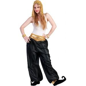 Jasmijn Broek Zwart - Arabische verkleedkleding - Kostuum