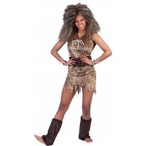 Holbewoner - Prehistorie Verkleedkleding - Kostuum vrouw