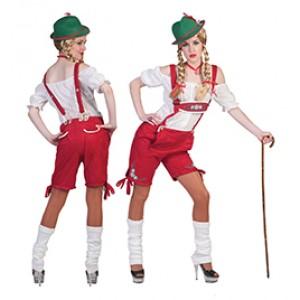 Tiroler Helgo Lederhose - Oktoberfest - Kostuum Vrouw