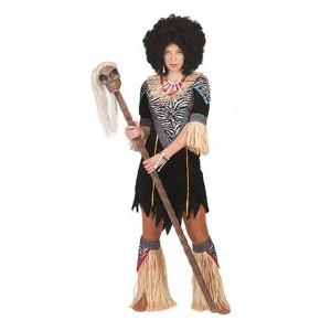 Medicijnvrouw - Afrikaanse verkleedkleding - Kostuum vrouw