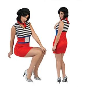 Franse Claire - Franse Verkleedkleding - Kostuum Vrouw