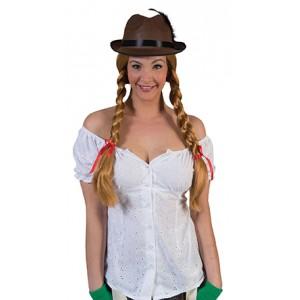 Tiroler Blouse wit - Verkleedkleding Oktoberfest - Kostuum Vrouw
