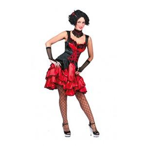 Franse Can Can girl rood - Verkleedkleding - Kostuum vrouw